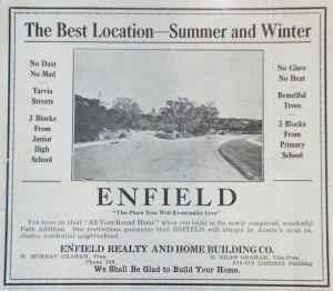Enfield Gossip Ad